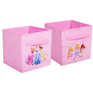 Disney Princess Storage Cubes, Set Of 2