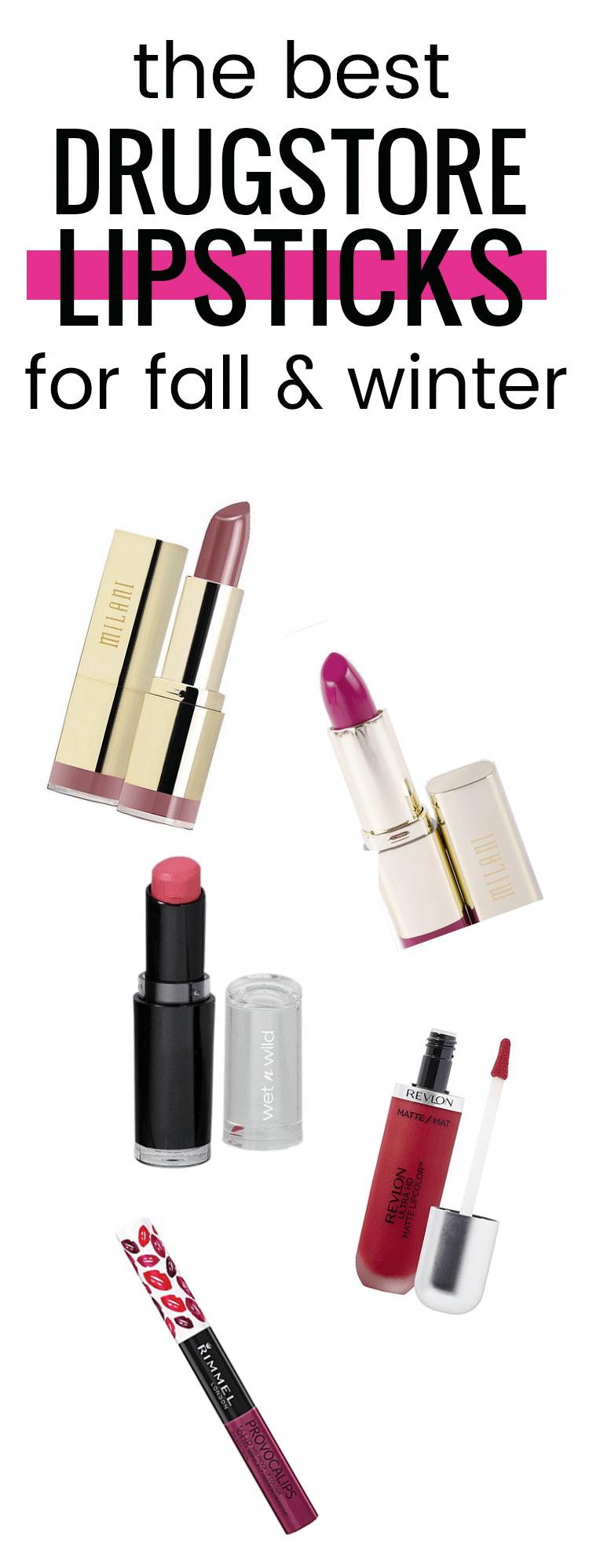 Die besten Lippenstifte für Drogerien im Herbst und Winter. Lieben Sie diese tieferen Farben !! #Ha…