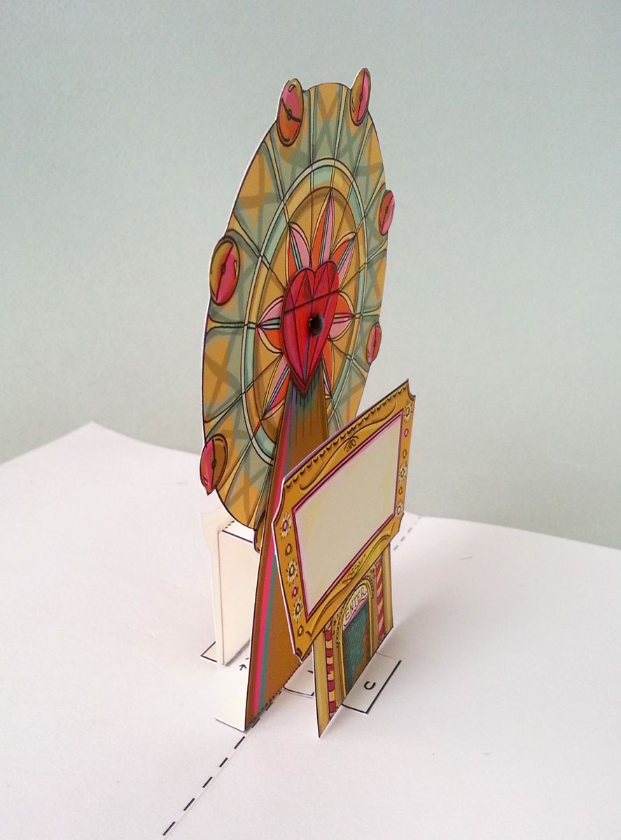 Tutorial Diy Download Ferris Wheel Pop Up Card Carnival Fun At Your Fingertips Paper Pop Pop Up 3d Paper Art
