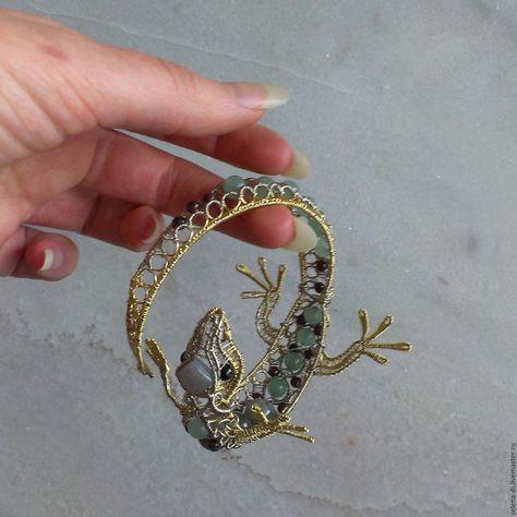 gekko wire bracelet design   Beaded & Wire Animals   Pinterest ...