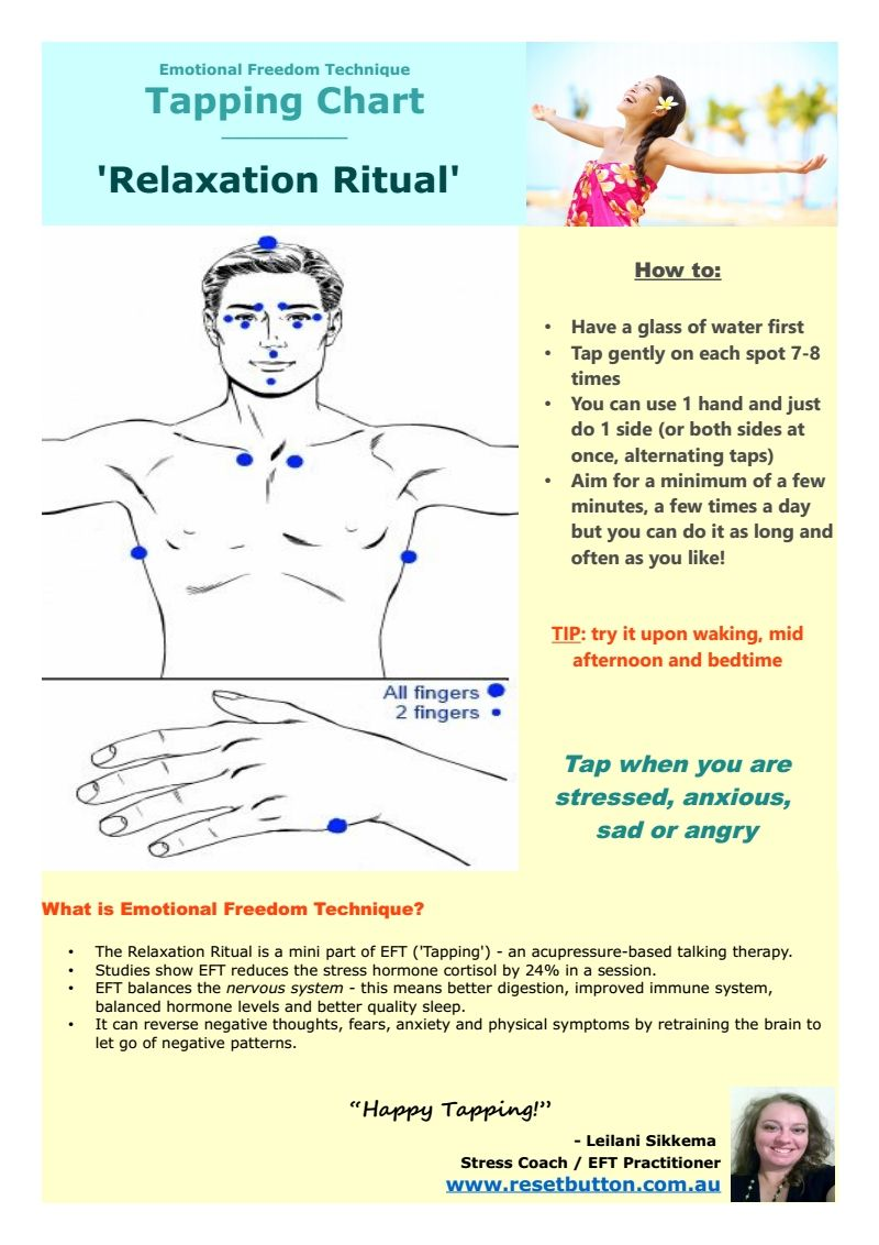 Tapping chart for relaxation click image to print or download acupressure points how find also rh pinterest