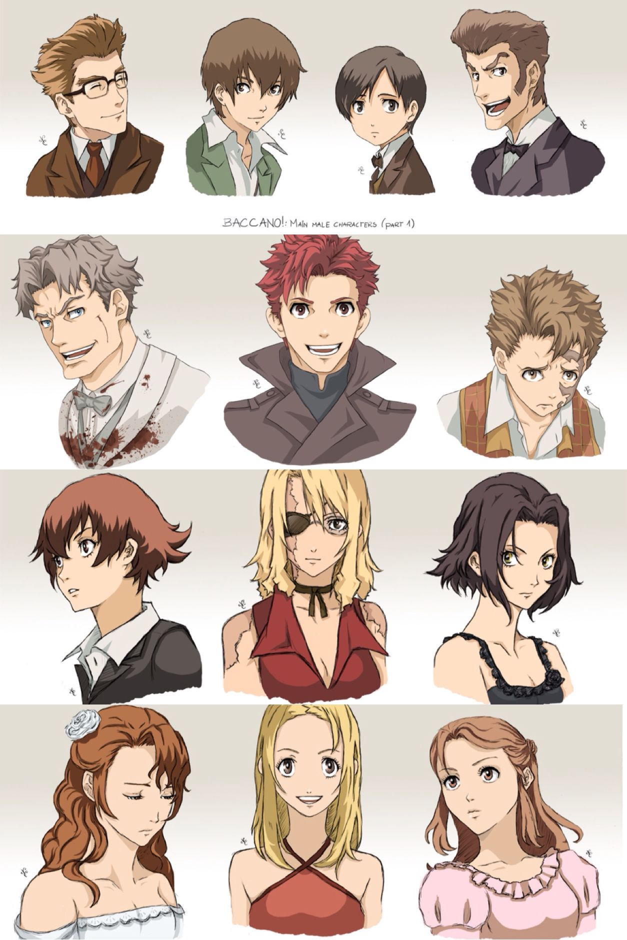 I can't ever choose a favorite character from Baccano ...