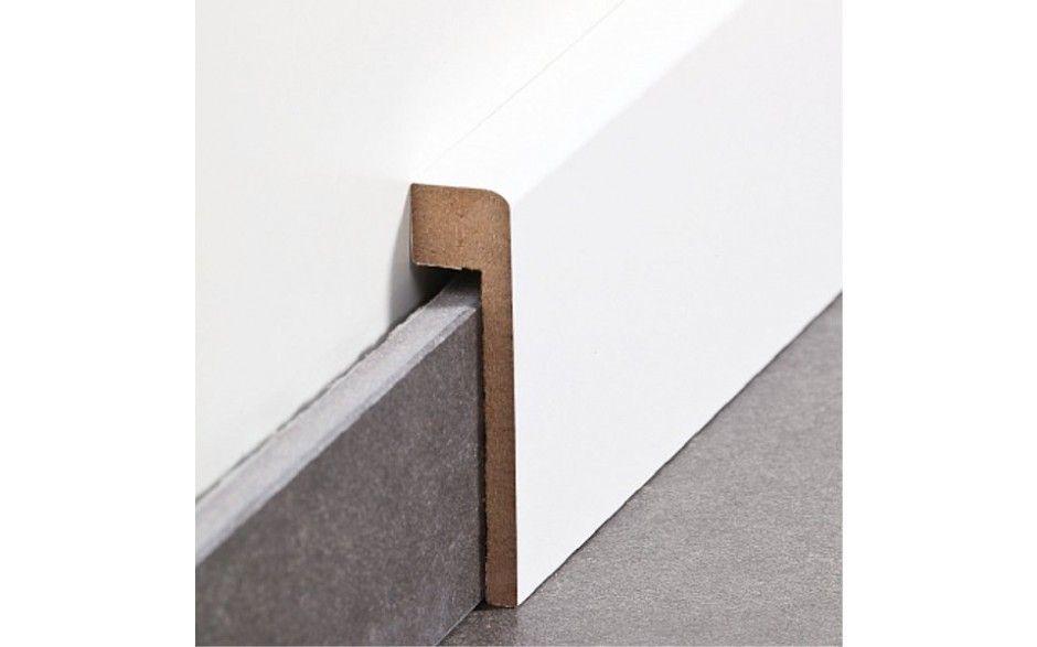 abdeckleiste f r fliesensockel bis 65 mm mdf foliert farbe wei. Black Bedroom Furniture Sets. Home Design Ideas