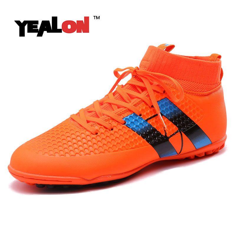 YEALON men football shoes superfly scarpe da calcio alte superfly crampons  de foot hautes chevilles Football