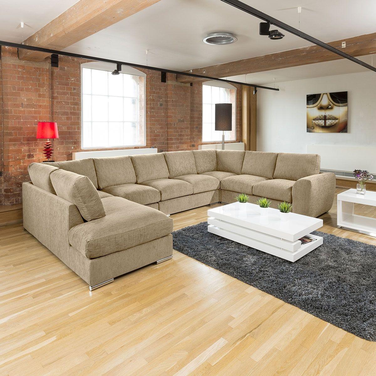 Extra Large Sofa Set Settee Corner Group U L Shape Cream 4 0 X 2 6m R Extra Large Corner Sofas Large Sofa Sofa Set