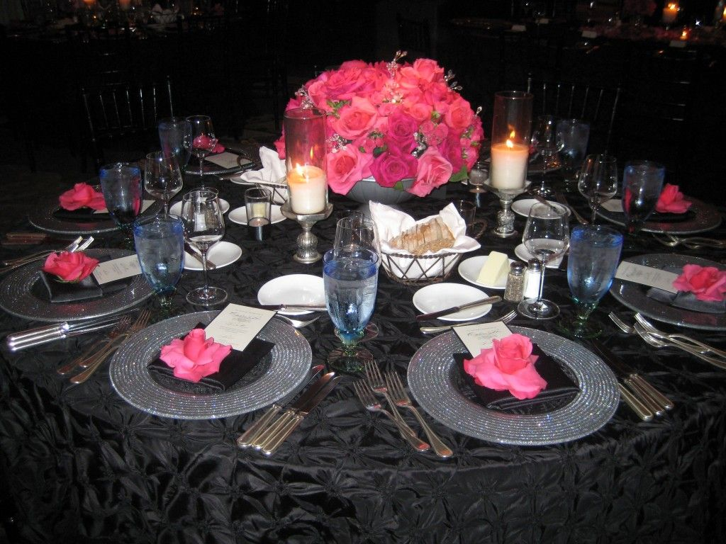 pictures of pink black weddings google search wedding