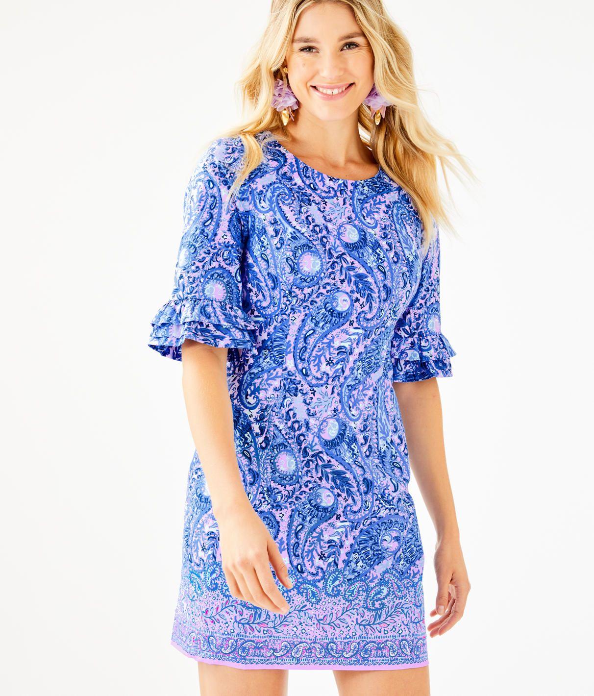 b2c3ce118d7427 Fiesta Stretch Dress, Purple Iris Hello Sunshine Engineered Woven Dress,  large
