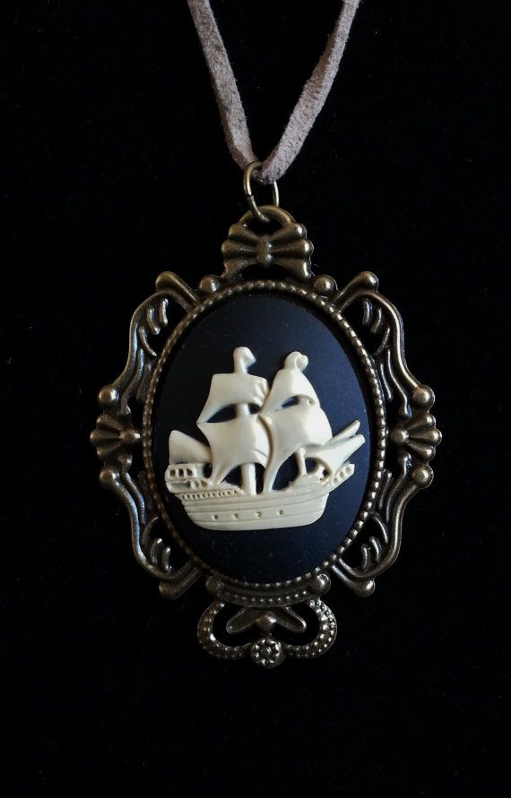 Check out this item in my Etsy shop https://www.etsy.com/listing/236580171/ship-cameo-pendant