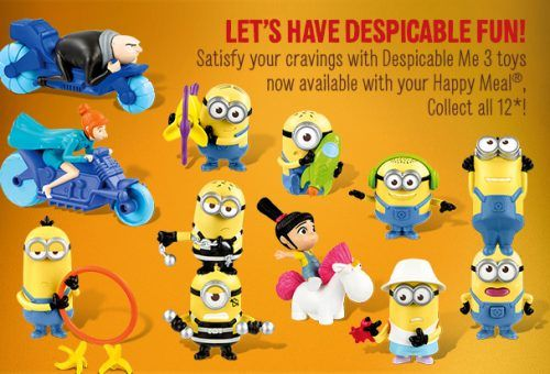 minions at mcdonalds com sweepstakes mcdonald s canada offers despicable me 3 minions toys 5316
