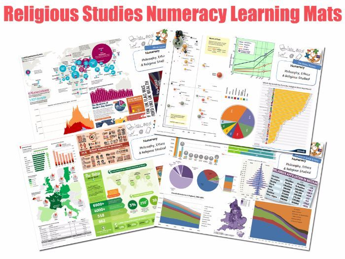 Numeracy in RE 4xA3 Learning Mats   Displays   Posters Numeracy - religious brochure