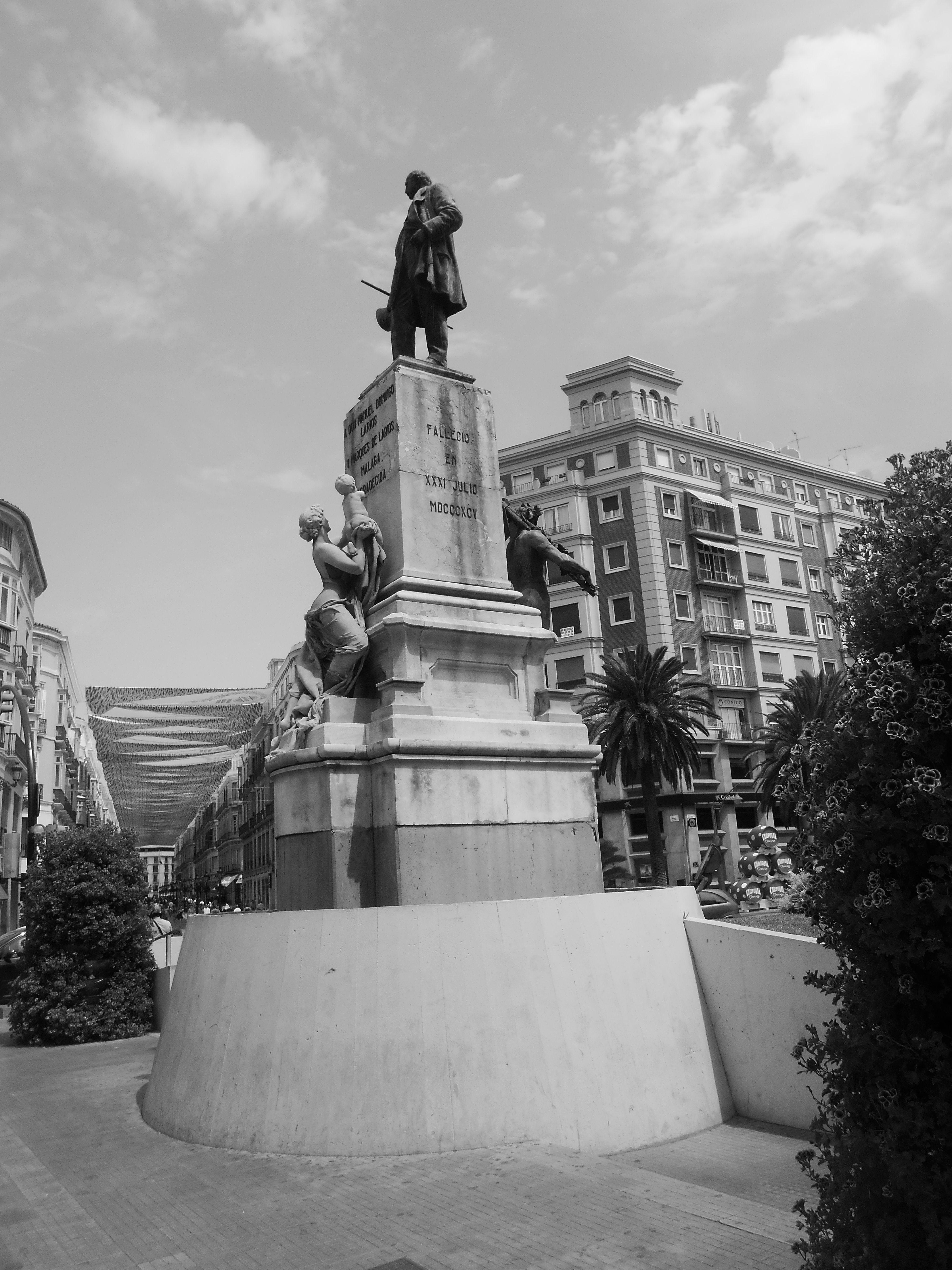 Estatua Marques de Larios. málaga.