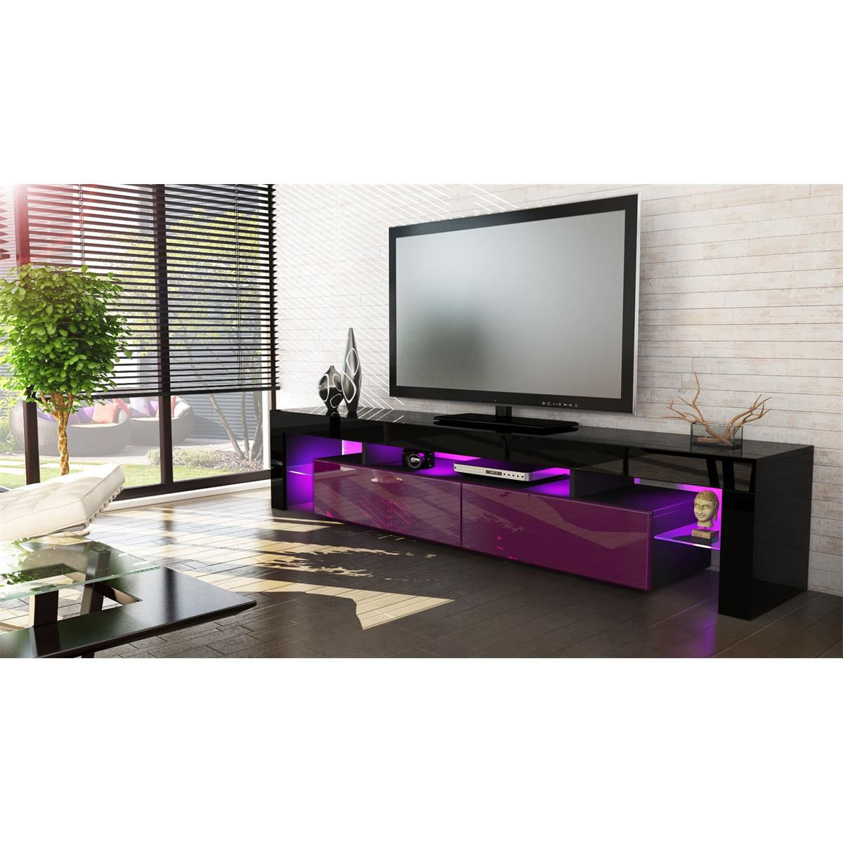 Domovero Is Proud To Present The Helios Tv Unit Furniture This Tv  # Meuble Tv Alphason