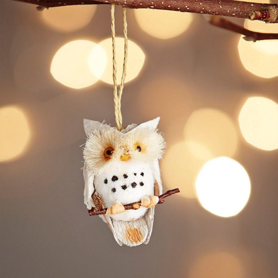Natural Cone Owl Decoration // Animal Christmas Trend // Graham & Green  #animal #christmasanimal #festiveanimal #christmastree #christmasdecoration #treedecoration #christmas #festive #decoration #homedecor #kitsch #grahamandgreen
