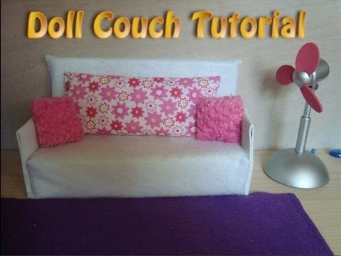 How to Make Doll Couch Tutorial Easy