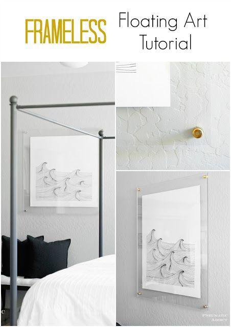 Frameless Floating Art Tutorial Diy Decor Home Decor Decor