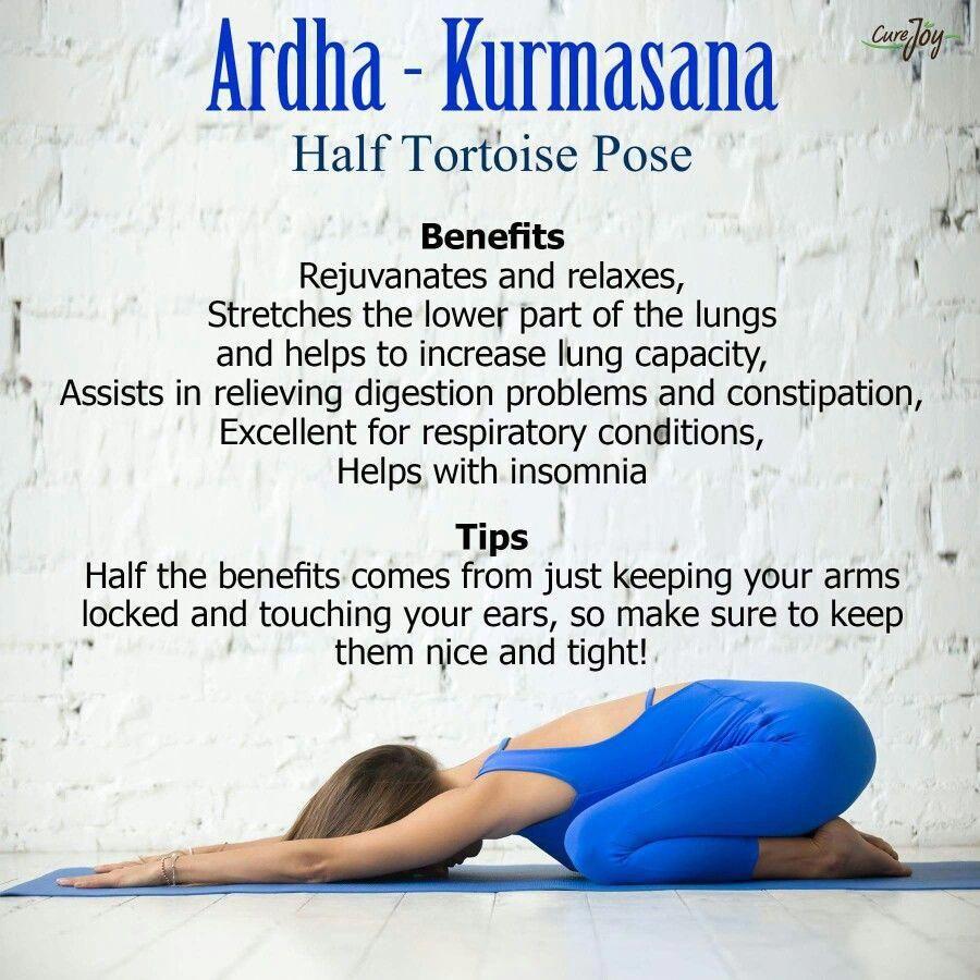 Half Tortoise Pose Wellness Yoga Yoga Benefits Yoga Asanas