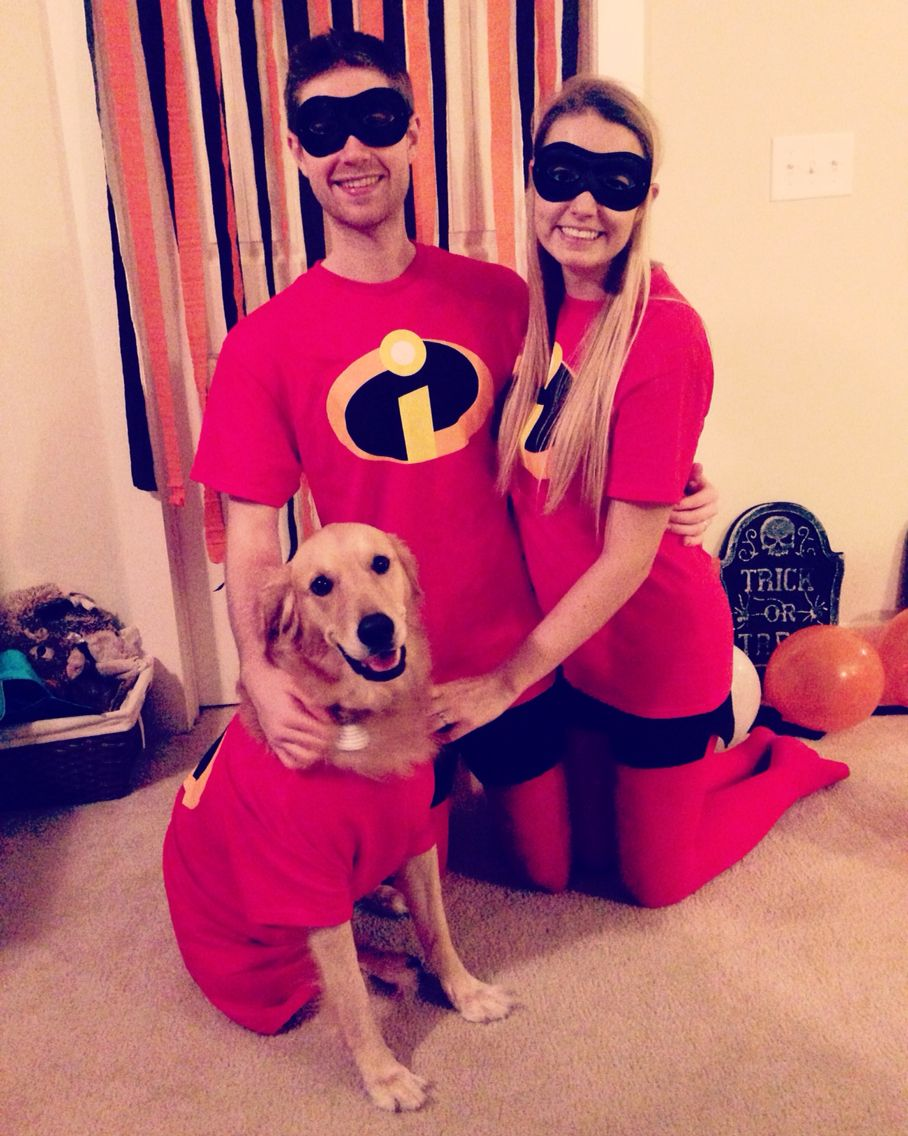 The Incredibles With Incredi Dog Halloween Family Costume Idea