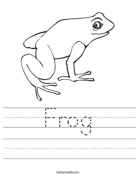 Frog Worksheet - Twisty Noodle | Reading first grade | Pinterest ...