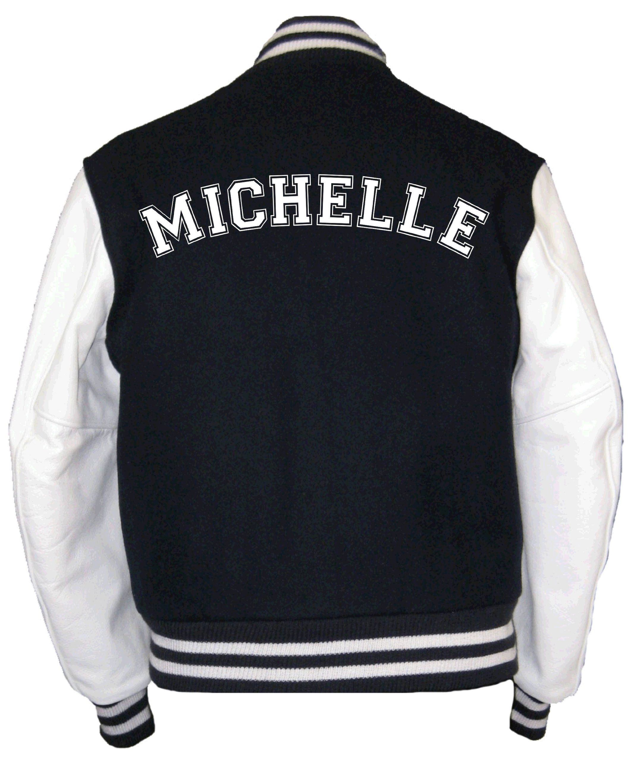 Personalized Varsity/college/ baseball jacket with name on back ...