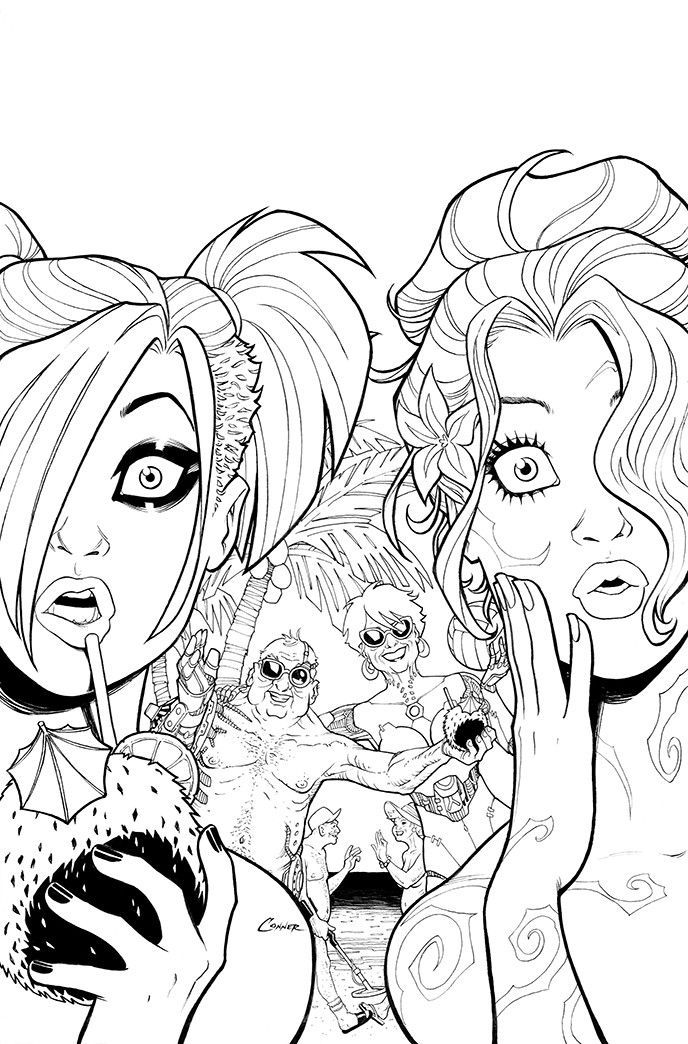 Harley Quinn 8 And Mrj Rhpinterest: Harley Quinn And Catwoman Coloring Pages At Baymontmadison.com