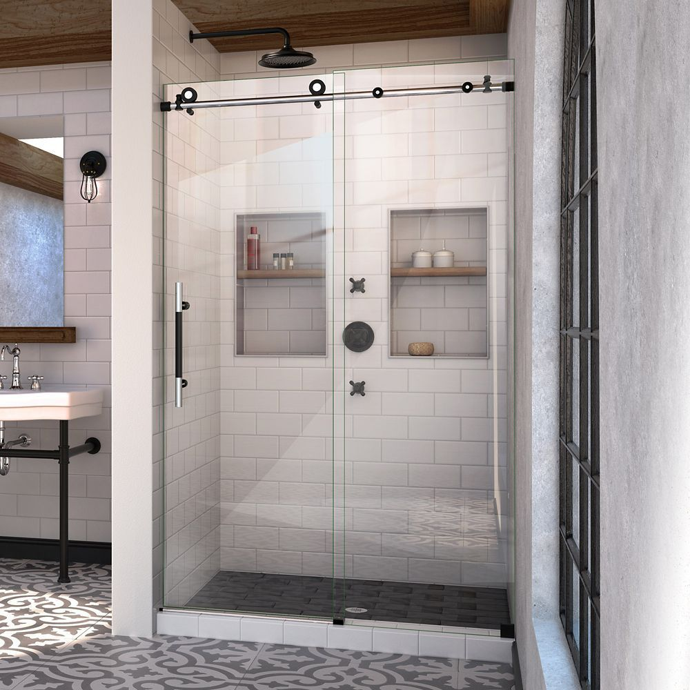 Enigma Xt 44 48 Inch W X 76 Inch H Fully Frameless Sliding Shower