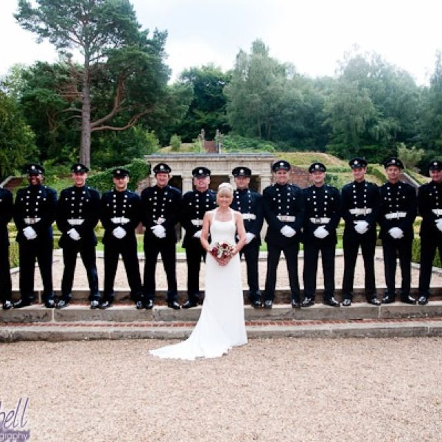 Fire Fighter Wedding. Class A Uniforms