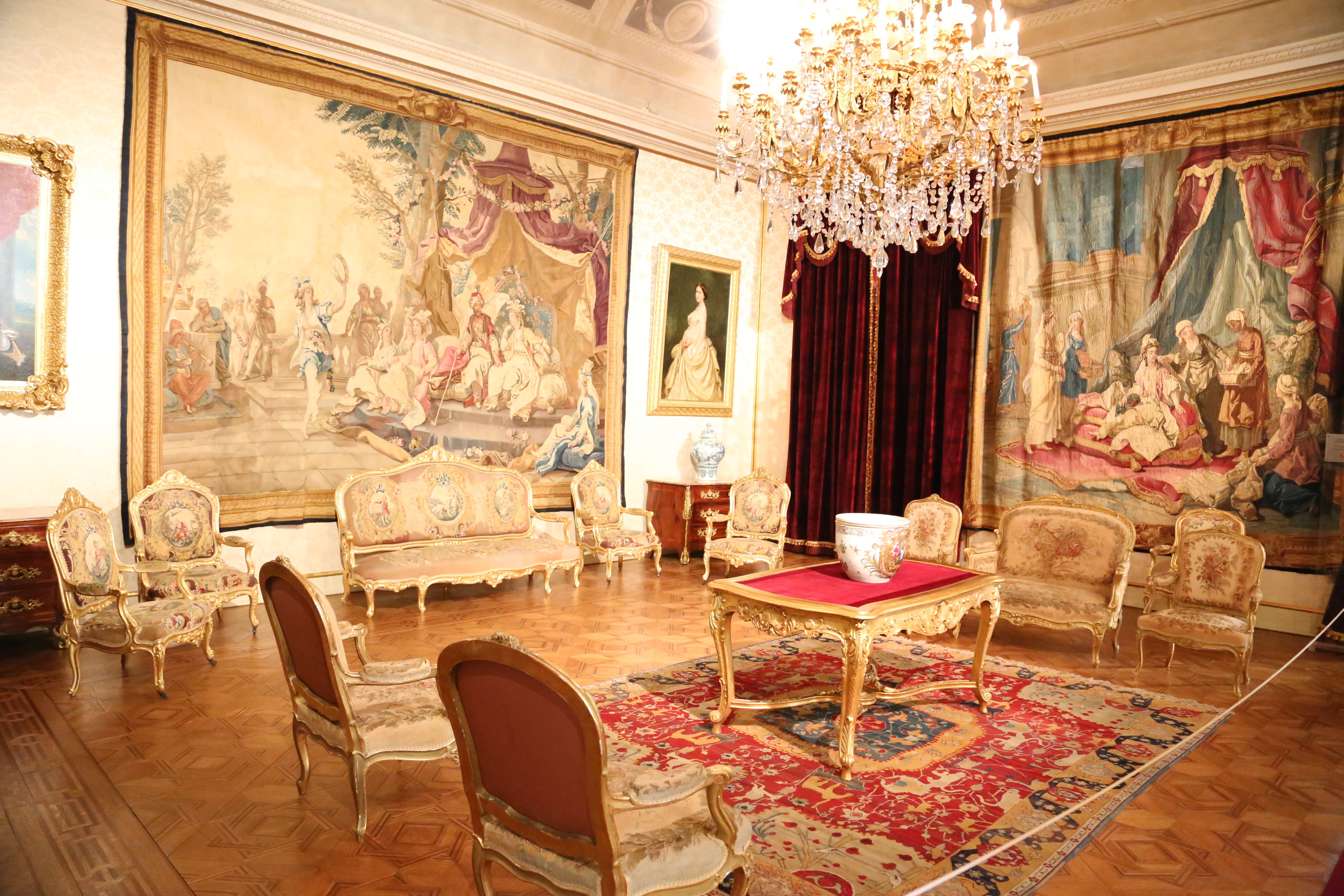 Living room in Ajuda palace