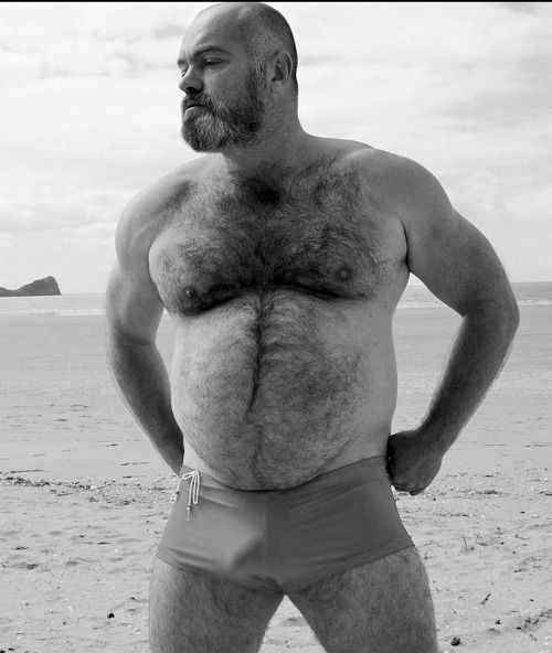 sexy grey hairy chest