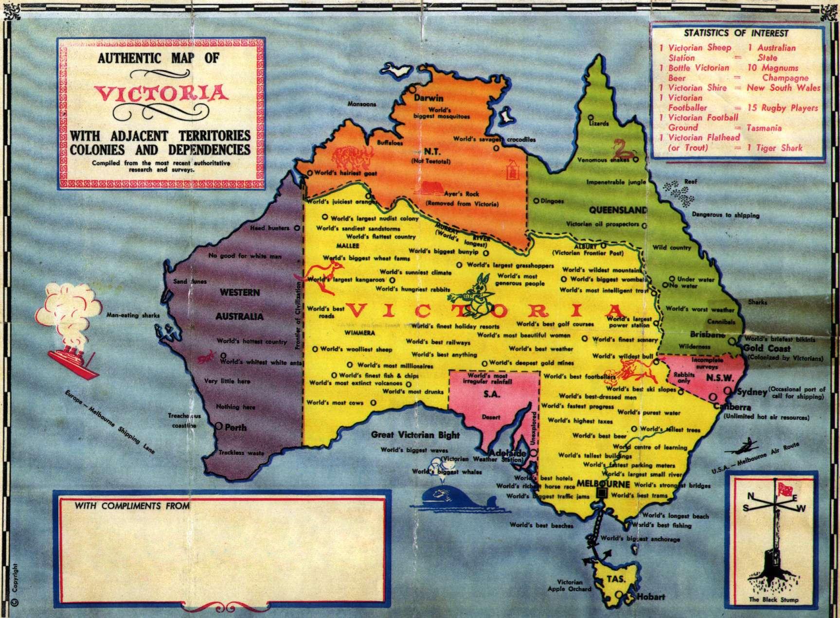 1895 Antique City Map of Melbourne Australia