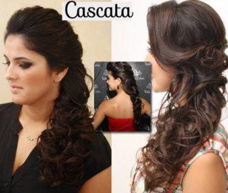 147f4bf4670 penteados com cabelo solto cascata Penteados Noivas Lateral, Penteados De  Lado, Penteados Para Cabelos