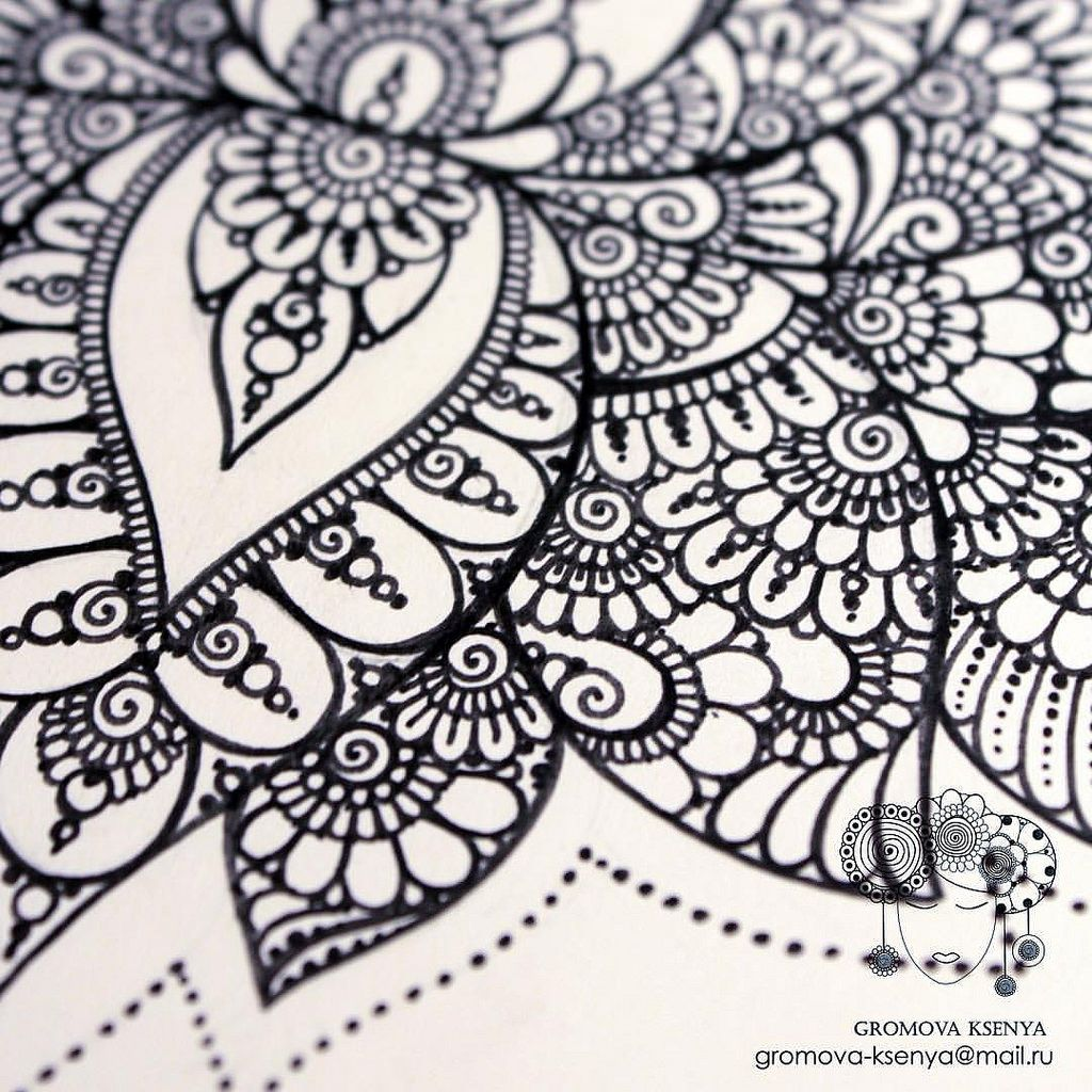 Lotos Detali Ornament Uzor Graphic Art Akvarel Mandala Ornament Pattern Drawing Risunok Geometry Zentangle Zentangl Sketch Topcreator Inst Doodle Art Designs Doodle Art Flowers Henna Designs