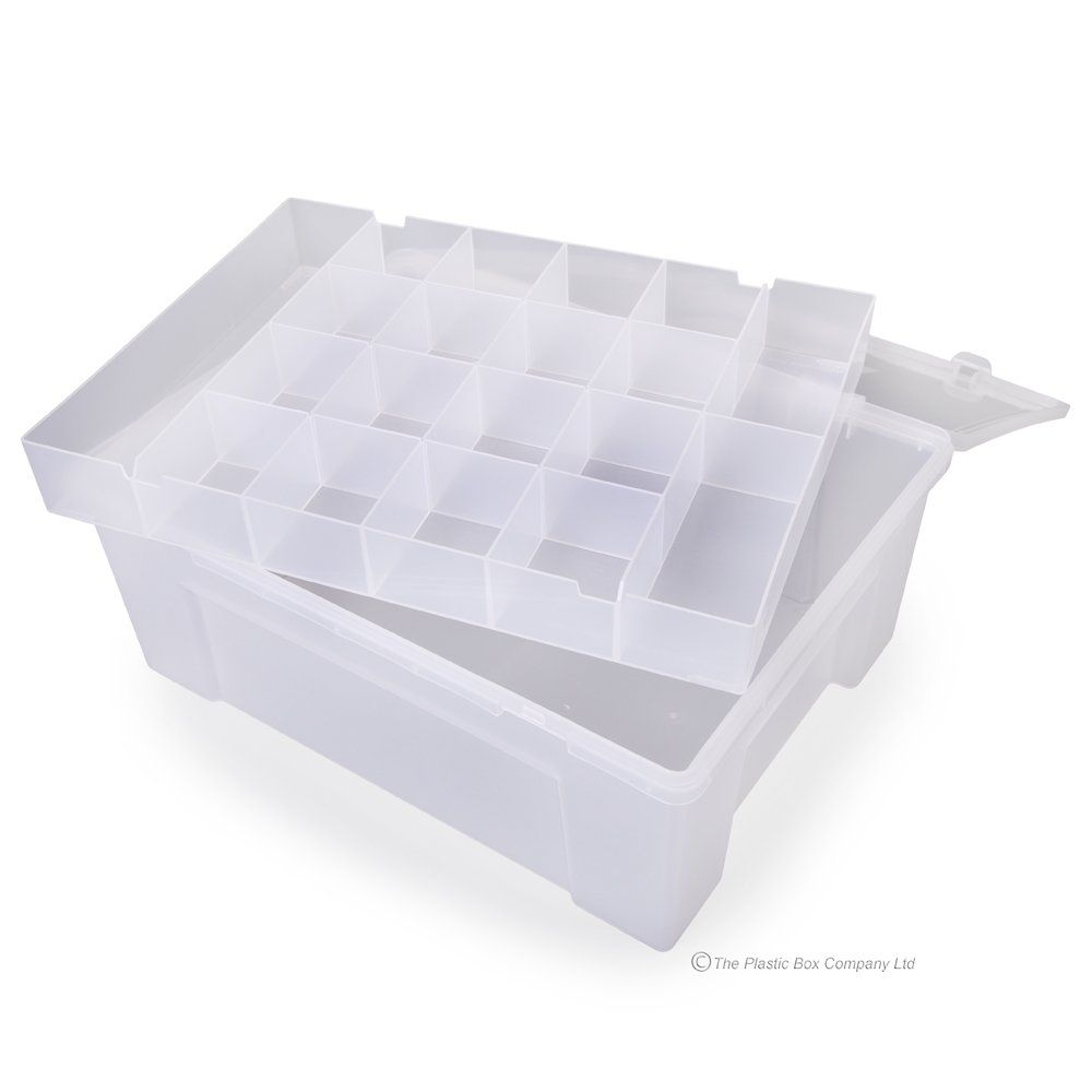 38cm Hobby Craft Bits And Bobs 19 Compartment Organiser Box 1