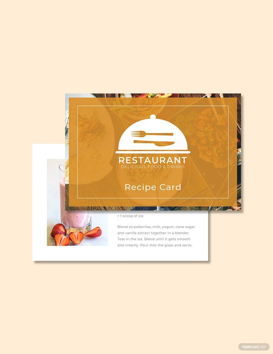 Free Recipe Card Template In 2020 Recipe Cards Template Recipe Cards Card Template