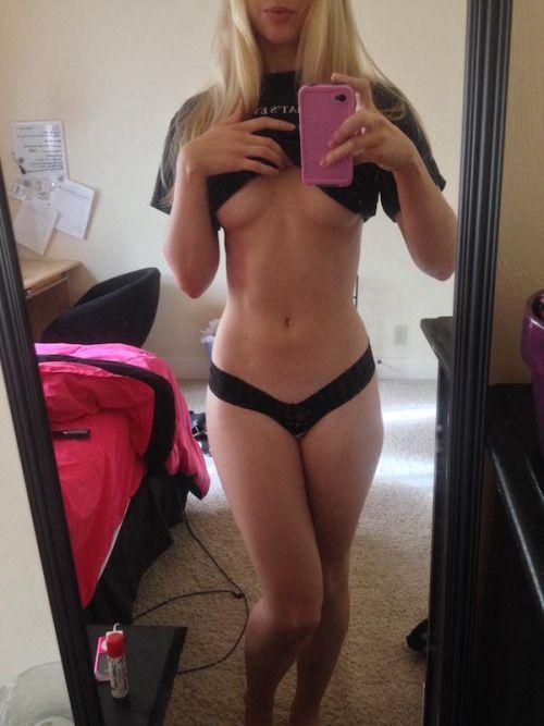 Selfie babe mirror lingerie