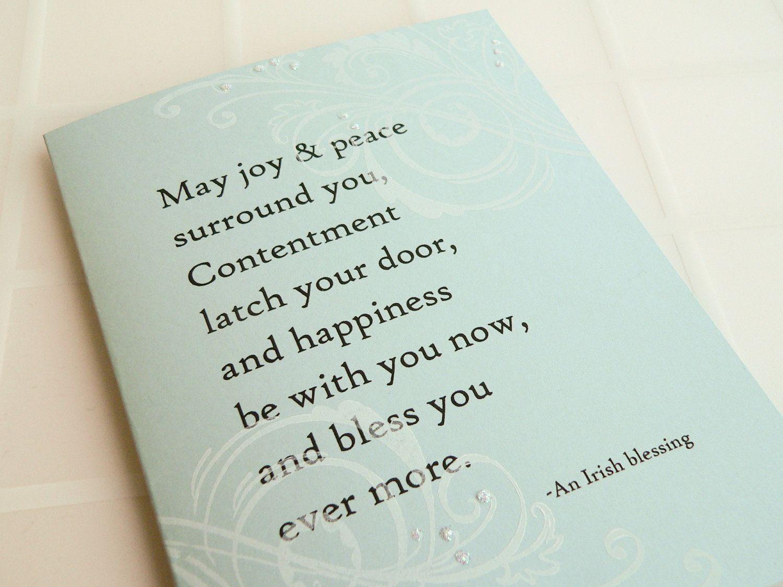 Irish Blessing Wedding Card