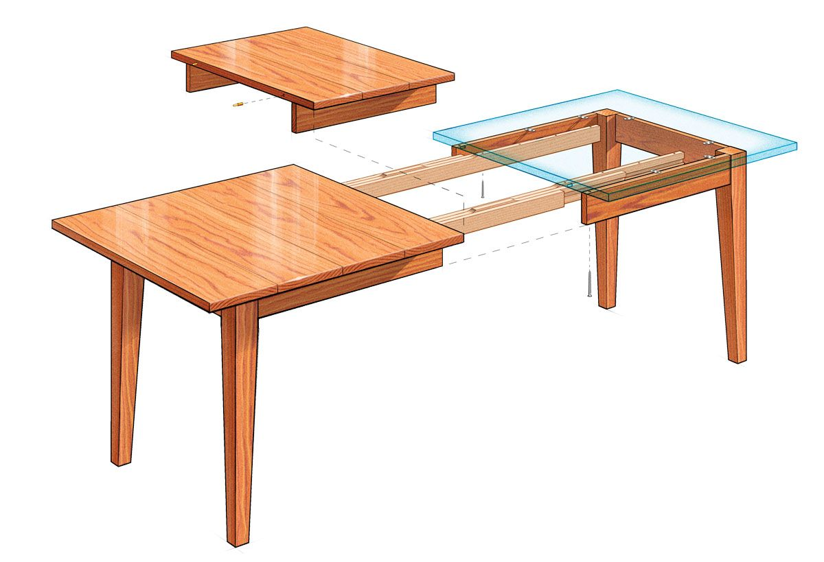 Free Plans For DIY Extension Dining Table Make Your Own Variation Using This Concept