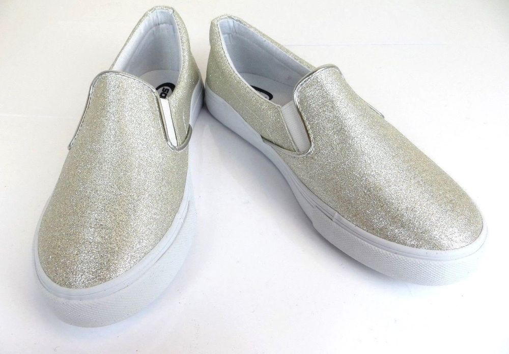 03f0f954467 Women s Sparkle Silver Glitter Canvas Loafers Fashion Slip On Sandy-G  Soda   Loafers  Casual