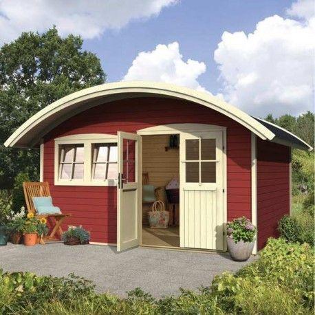 Abri De Jardin 12m Plus En Bois 40mm Traite Teinte Marron Gardy Shelter