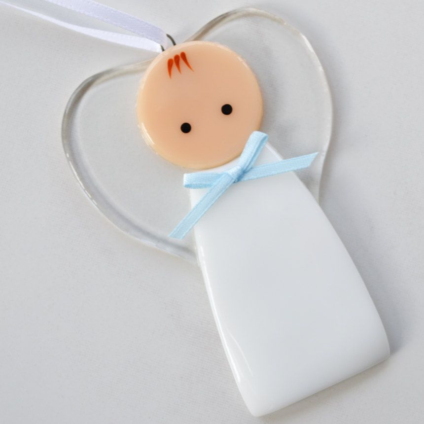 117 Angel Blue Christmas Ornament Baptism Shower: Angel, Baby Boy Ornament, Decoration, Guardian Angel