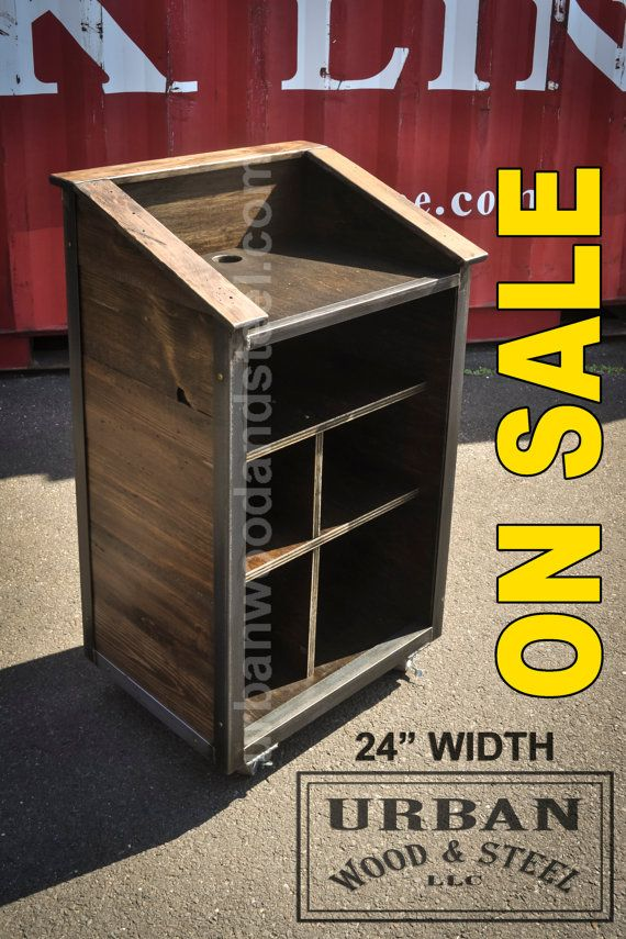 The 48 Industrial Host Stand Wood Steel Steel Furniture