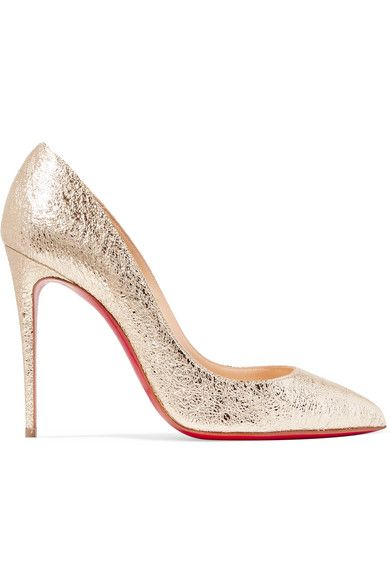 af780f63c00 Christian Louboutin - Pigalle Follies 100 Metallic Crinkled-leather Pumps -  Gold