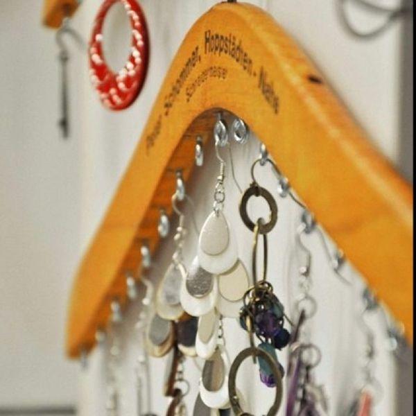 schmuckhalter aus rahmen basteln | DIY | Pinterest | Basteln