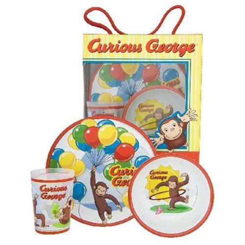 Curious George 3pc. Dinnerware Set  sc 1 st  Pinterest & Curious George 3pc. Dinnerware Set | I Love Party Planning ...
