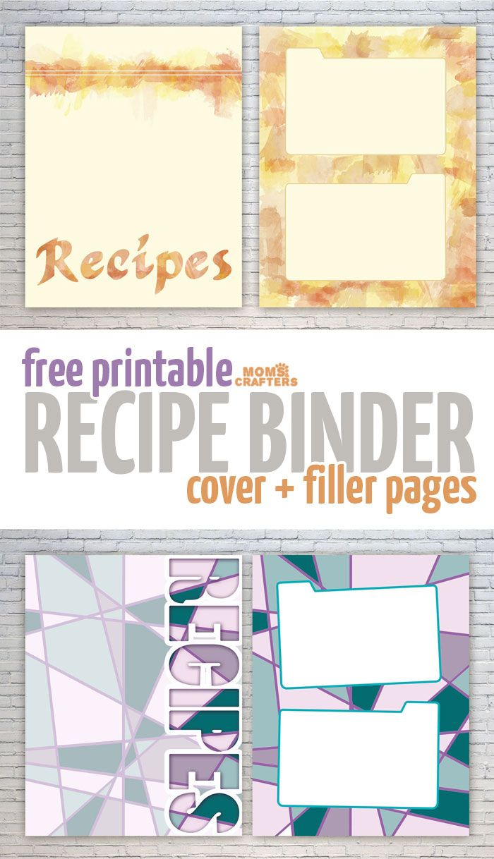 free recipe binder printables moms and crafters on the blog