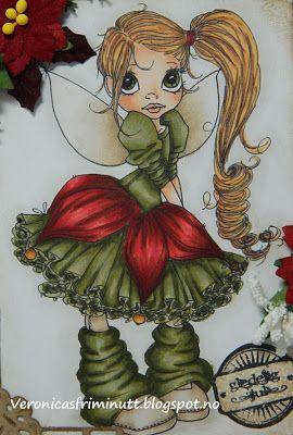 Christmas fairy: Hair: E21, YR21, YR20, E23  Skin: E000, E00, E02, E11  Skirts: YG99, YG95, YG91, BG96, BG93  Red: E59, E19, E08, R37, R24, R22  Wingsr: E43, E42, E41, E40  Shadows: W1, W0, W00