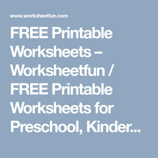 FREE Printable Worksheets – Worksheetfun / FREE Printable Worksheets ...