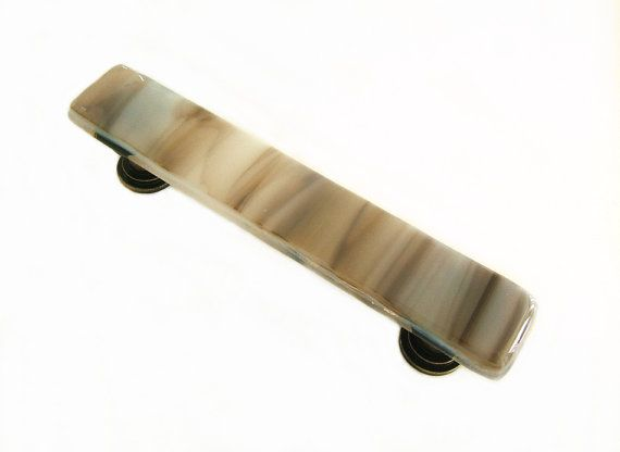 Farmhouse or Country Stone Glass Drawer Pull or Cabinet Handle Hardware Cus