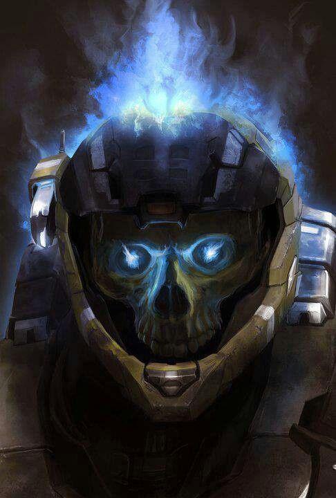 Halo Reach Skull Helmet : reach, skull, helmet, Helmet, Skull, Armor,, Reach,
