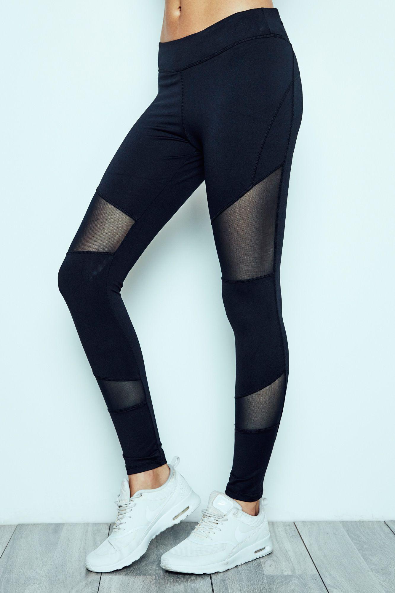 Mesh Panel Energy Legging Fashion, Urban Fitness