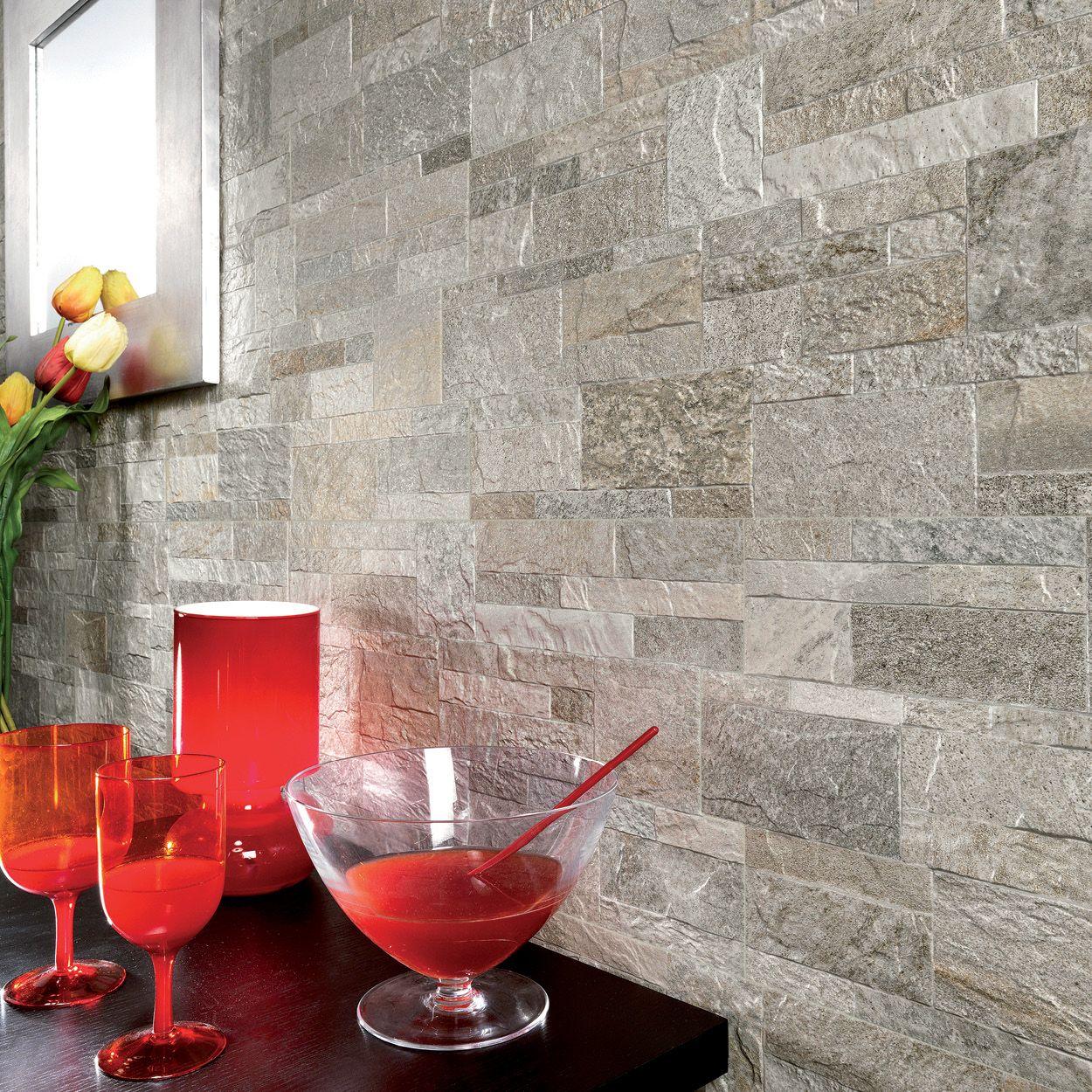 Rock Style Silver Tile Warehouse Exterior Wall Tiles Brick